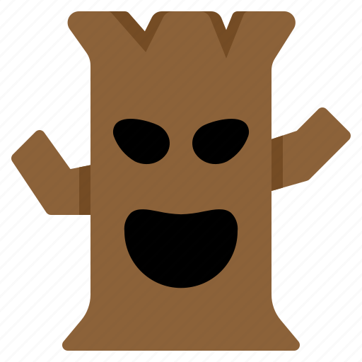 Ghost, halloween, horror, leafless, scary, spooky, tree icon - Download on Iconfinder