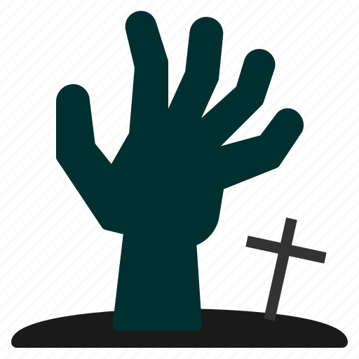 fingers, ghost, halloween, hand, horror, scary, zombie icon