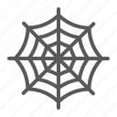 cobweb, decoration, halloween, horror, spider, web icon