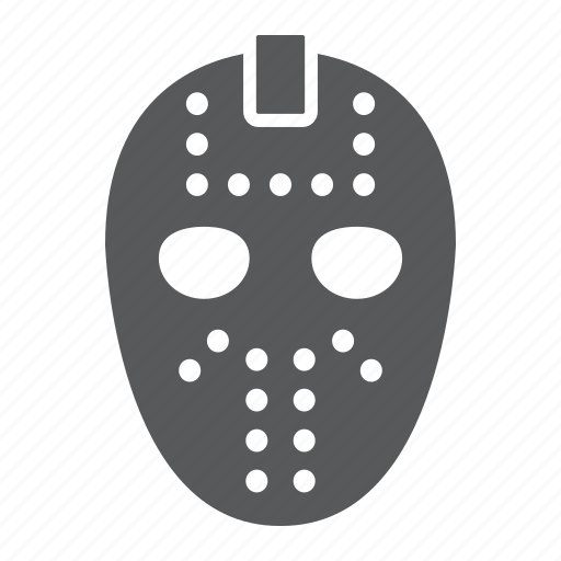 goalie, halloween, helmet, hockey, horror, mask, scary icon