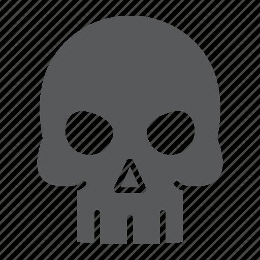 Danger, dead, death, halloween, holiday, skeleton, skull icon - Download on Iconfinder