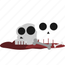 event, halloween, holiday, horror, monster, party, skull icon