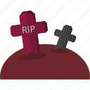 event, grave, halloween, holiday, horror, party, tomb icon