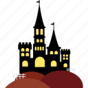 building, castle, event, halloween, holiday, horror, party icon