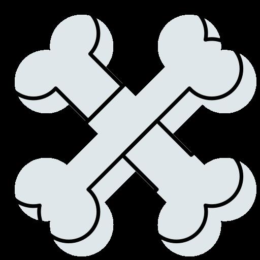 bones, halloween, human, skeleton, skull icon icon