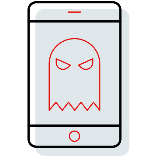 avatar, character, halloween, mobile, mobile shape, skeleton, smartphone icon