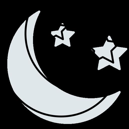 halloween moon, moon, stars, sundown, weather icon icon