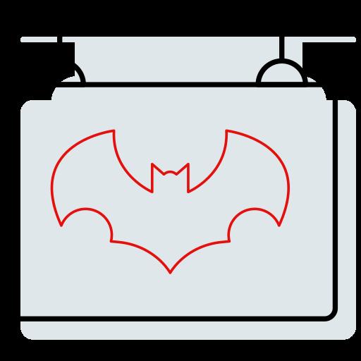 bat, batman, board, halloween icon, hanging, shop, sign icon