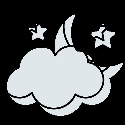 clouds, halloween moon, moon, stars, sundown, weather icon icon
