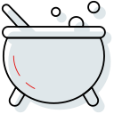 boil, cauldron, halloween, witch icon icon
