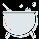 boil, cauldron, halloween, witch icon icon