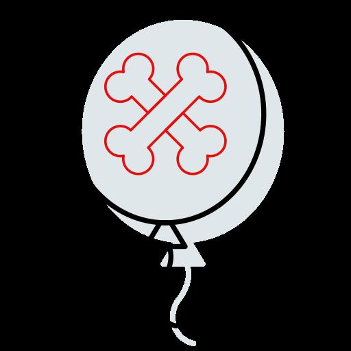 ballon, ballon icon, bones, halloween, halloween icon, horror icon