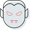 blood, dracula, evil, halloween, night, wampire icon icon
