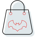 bag, bat, halloween, halloween bag icon
