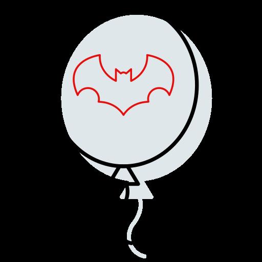 ballon, ballon icon, bat, halloween, halloween icon, horror, outline icon icon