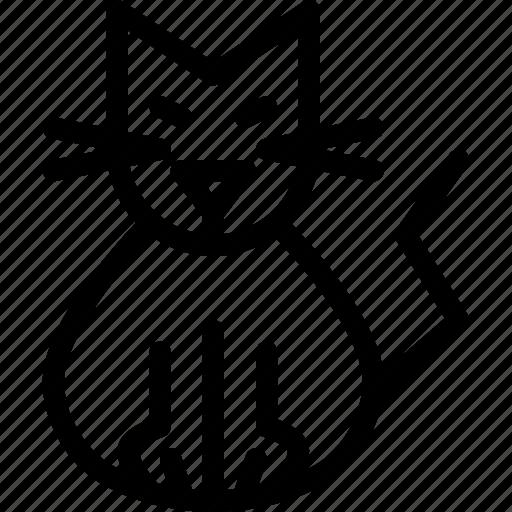 Cat, evil, halloween, kitty, feline, kitten, purr icon - Download on Iconfinder
