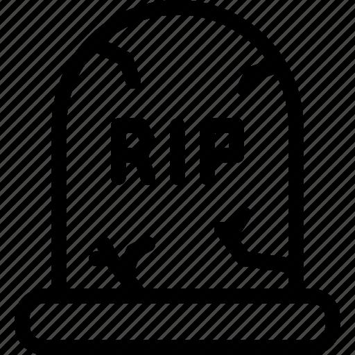 Death, funeral, grave, gravestone, graveyard, rip icon - Download on Iconfinder