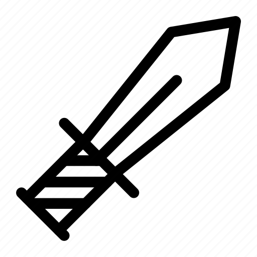 sword, weapon icon