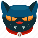 animal, cat, halloween, pet, scary, skull icon