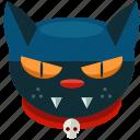 animal, cat, halloween, pet, scary, skull