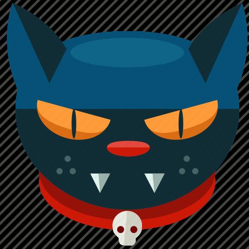 animal, cat, halloween, pet, scary, skull icon