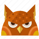 animal, halloween, night, nightmare, owl, scary icon