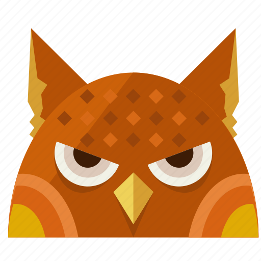 animal, halloween, night, nightmare, owl, scary icon