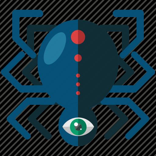 bug, eye, halloween, nightmare, scary, spider icon