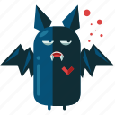 bat, decoration, halloween, nightmare, scary, teeth icon