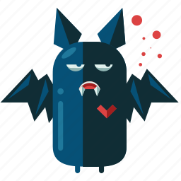 bat, decoration, halloween, nightmare, scary, teeth icon
