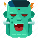 frankenstein, halloween, lightening bolt, monster, nightmare, zombie icon
