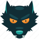 danger, halloween, scary, teeth, werewolf, wolf icon