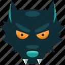 danger, halloween, scary, teeth, werewolf, wolf