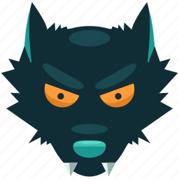 danger, halloween, scary, teeth, werewolf, wolf icon