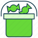 basket, candies, halloween, sweets icon