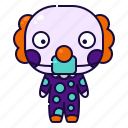 avatar, character, clown, costume, halloween, mask