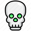 halloween, spooky, skull, skeleton