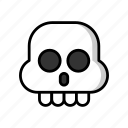 head, skull, death, halloween, horror, dead, scary