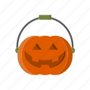 halloween, candy, basket, cart, pumpkin, sweets, shopping icon