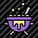 cauldron, witch, halloween, poison, pot