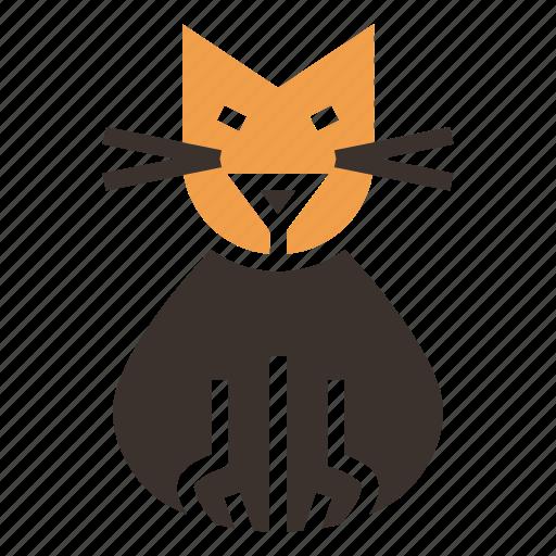 black cat, cat, evil, feline, kitten, kitty, purr icon