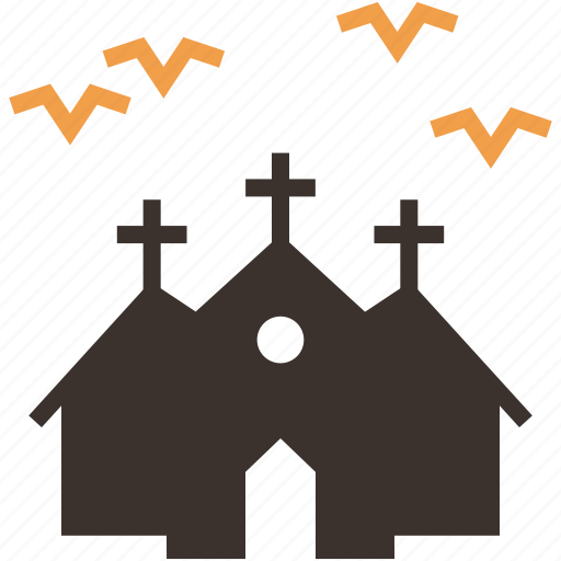 Bats, halloween, haunted, horror, house, mansion, night icon - Download on Iconfinder