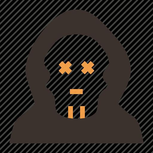 dead, halloween, mask, monster, skeleton, skull, zombie icon