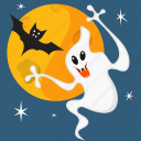 evil, gost, halloween, horror, moon, scary, spooky icon