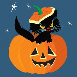 cat, halloween, holiday, horror, pumpkin, scary, spooky icon