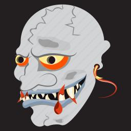 dead, devil, evil, halloween, horror, scary, zombie icon