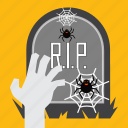 halloween, hand, october, spider, tombstone, zombie
