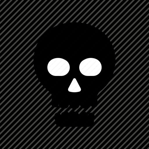 danger, death, halloween, head, horror, scary, skull icon