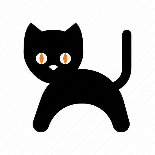 animal, black cat, cat, halloween, holiday, scary, trick or treat icon