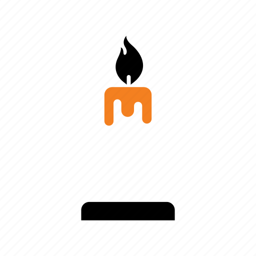candelier, candle, candlestick, fire, halloween, light, parafin icon